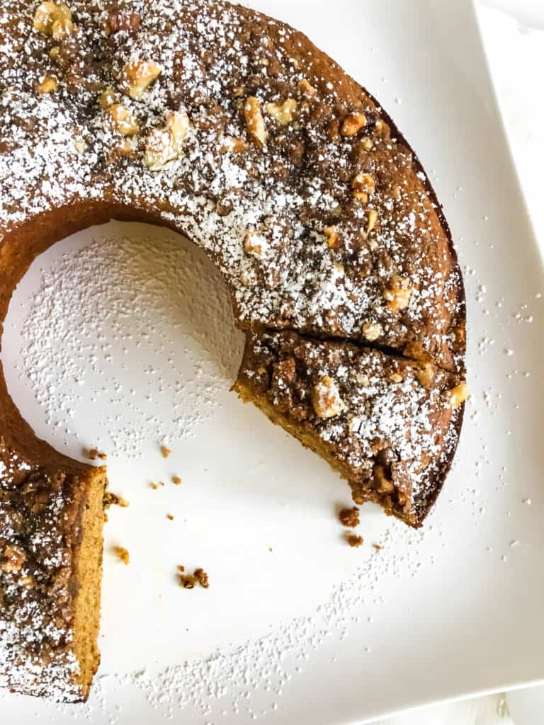 Pumpkin Bundt Cake With Streusel Topping